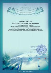 Панькова Наталья Васильевна _Благодарственное письмо_